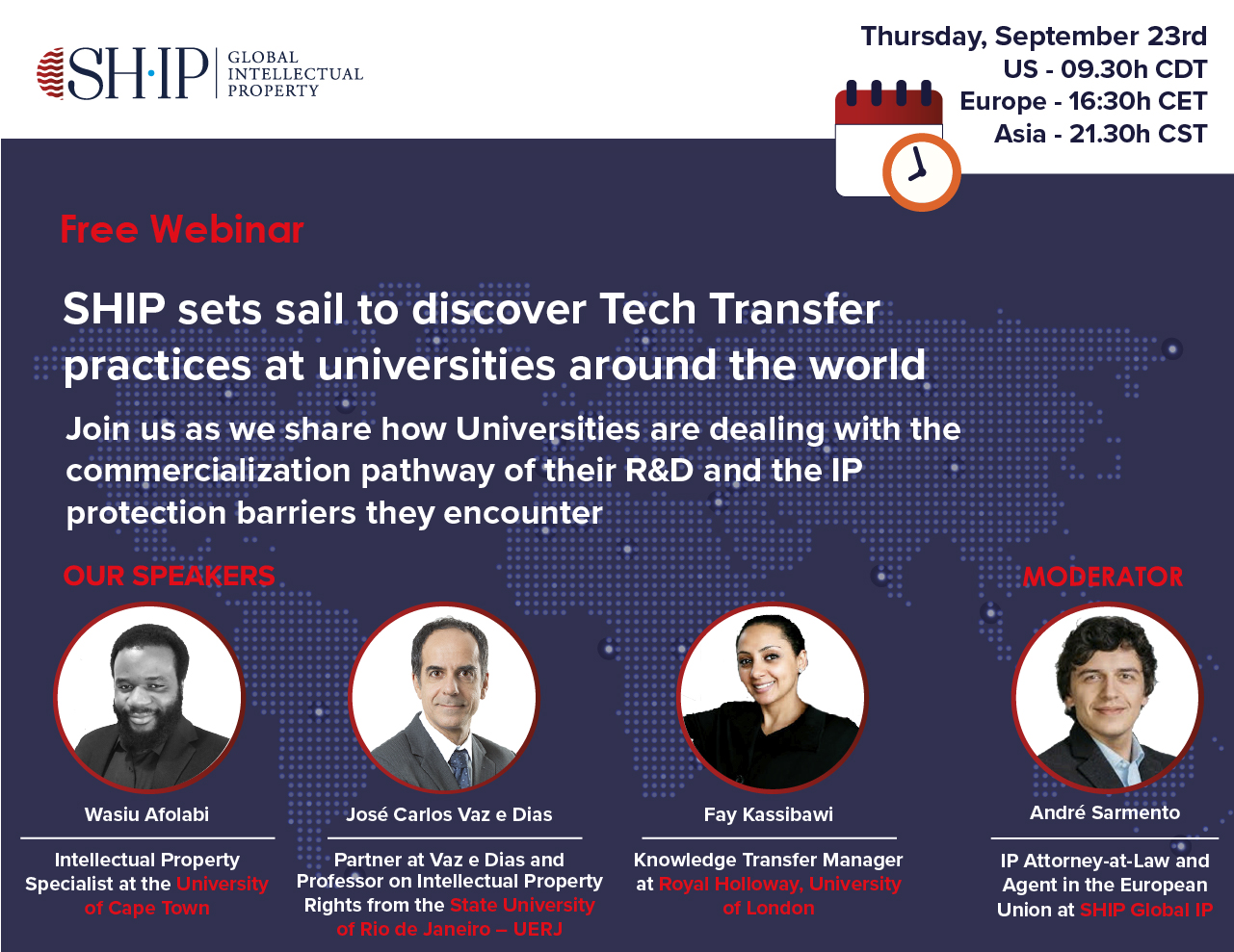 SHIP sets sail to discover Tech Transfer practices at universities around the world
