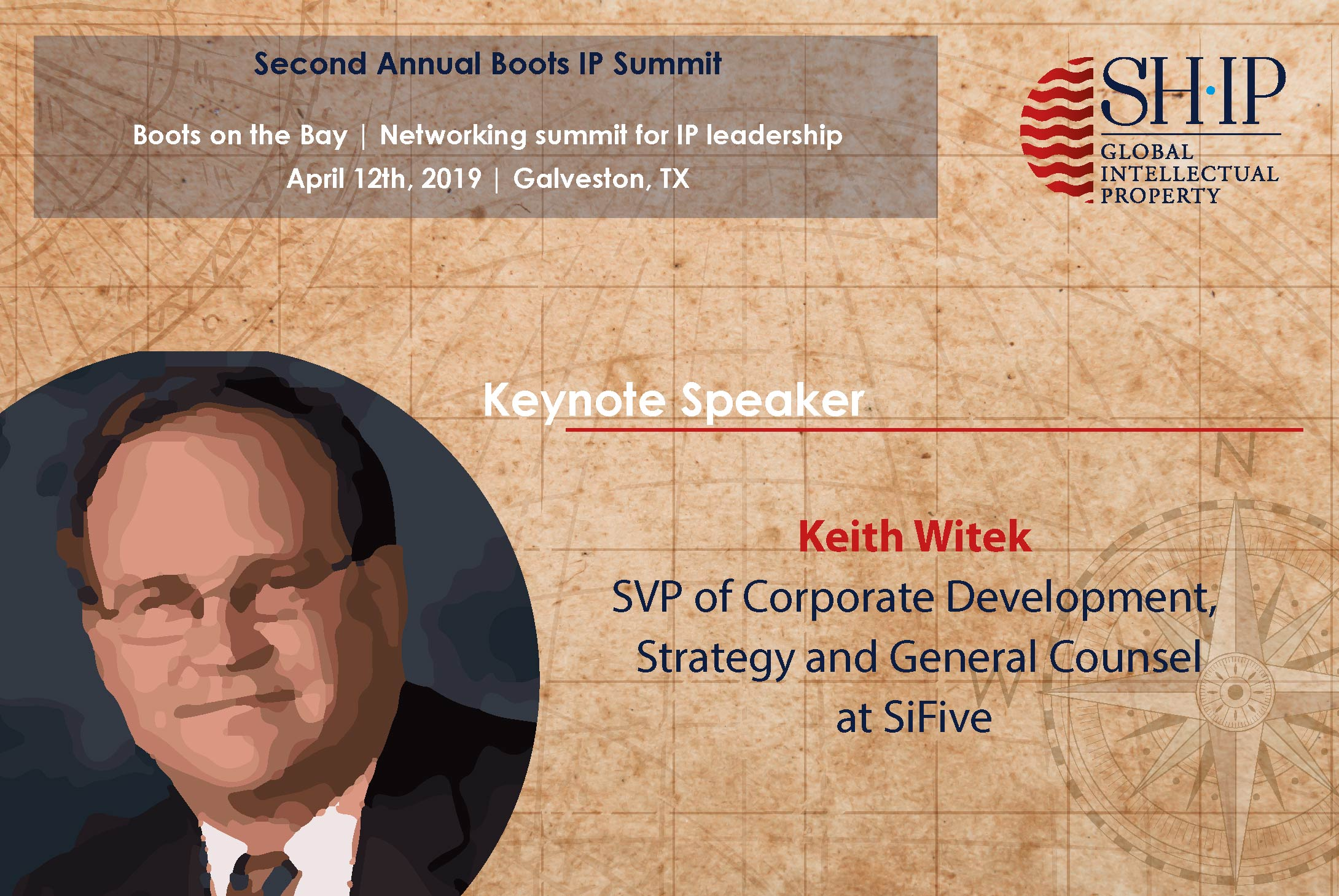 Second Keynote Speaker at Boots on the Bay IP Summit announced!